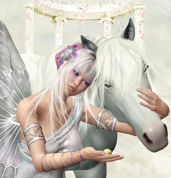 licorne et fille