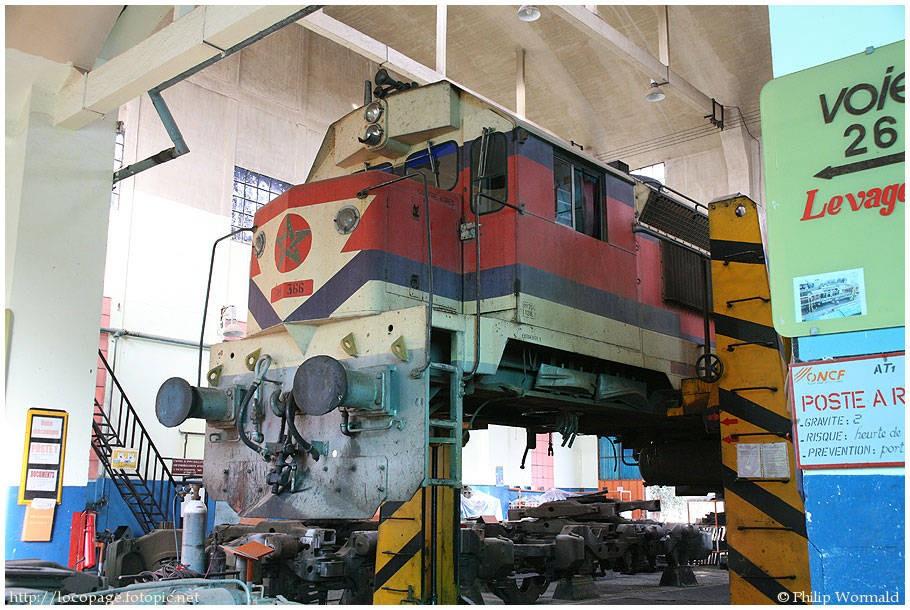 La DH-350 au depot d'Oujda :