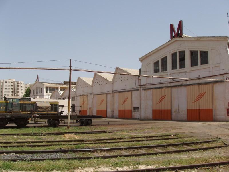 L'atelier des chemins de fer de Meknes :